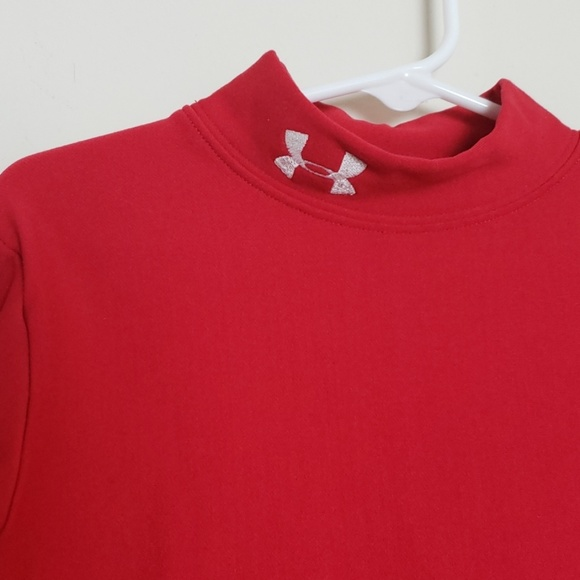 Under Armour Other - Under Armour red coldgear mock neck fitted shirt